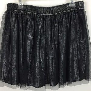 Decree Black Shimmering Skirt